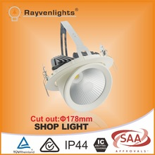CE approved high lumen 30w adjustable led ceiling spotlight for shop