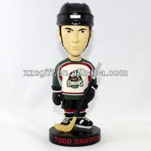 sportsman ice hockey player toys polyresin nodding head pa14-07