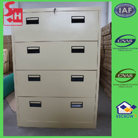 Four drawers white industrial metal cabinet drawers