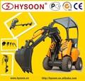 Hysoon super estrella de utilidad de ruedas articulado mini-cargadora