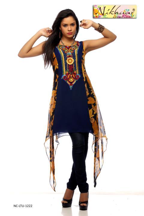 Gujarati Style Kurti Pakistani Style Designer Kurti