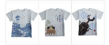 XC-2015 New Cotton O neck colorful Short Sleeve Children T-shirt fashionable design