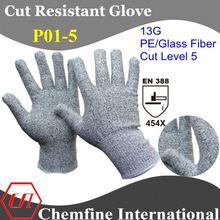13g nylon yarn shell nitrile glove for working safety