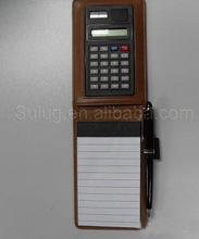 Calculator notepad with pen