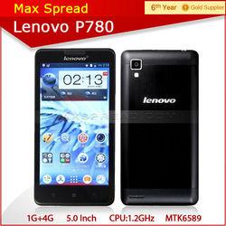 5.0'' lenovo p780 dual sim mtk6589 android 4.2 cellphone
