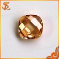 China sintético brillante cham de piedras preciosas sueltas plaza de lujo cusion/2tu piedra de la cz