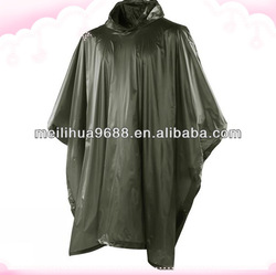 Hot selling long waterproof hood bicycle rain poncho