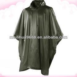 Hot selling long waterproof hood bicycle rain poncho