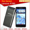 5.0 inch lenovo p780 android 4.2 mtk6589 quad core brand cell phone