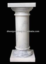 White Marble Decor Pillar