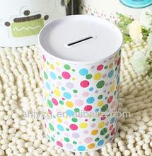 colorful dots metal Money Tin Box