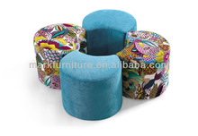 Comfortable feeling!!! The new design cube faux suede ottoman J-D4001A