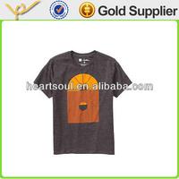 Custom cotton short sleeve round neck t shirt for men