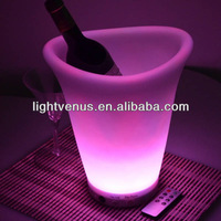 Li-on rechargeable battery plastic champagne ice bucket