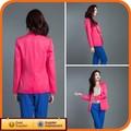 marca nuevo diseño de algodón de color rosa moda mujer chaqueta de primavera y verano 2014