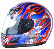 Multi decal full face motorcycle helmet B38