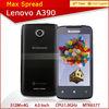 4.0'' lenovo a390 android 4.0 5mp camera dual sim dual core phones