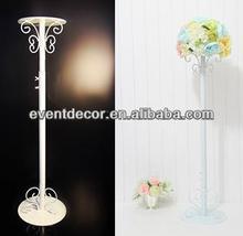 Uzun boylu düğün dekorasyon çiçek standı, ferforje çiçek standı düğün için 1031