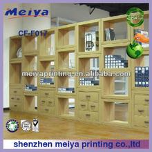 cardboard bookrack,library cardboard display shelves for books cardboard drawers