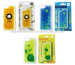 Plastic Liquid Oil Mobile Phone Case for iPhone 5s Cover (Beer / Liquid Blue / Liquid Yellow)