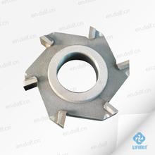 special hss milling cutting tools hss 6 flute carbide insert milling cutter