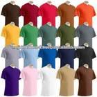 mens plain color 100%cotton round neck t-shirt