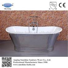 Chinese soaking tub,stainless steel coat bathtub