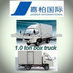China Supplier 1 Ton Van Cargo Box Trucks