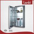móveis de casa de banho armários com prateleiras de vidro ajustáveis
