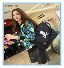 New Design Nylon Embroidery Pirate Skull Handbag Women Shoulder Bag