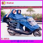 Waterproof 100%polyester rain poncho