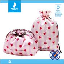 small fabric satin gift bag