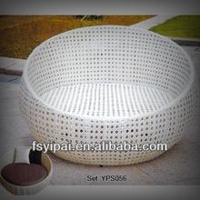Rattan round sofa bed