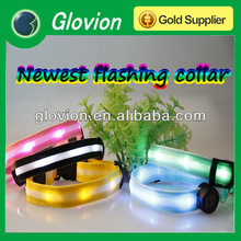 Fashion Wholesale illuminated flashing led dog collar flashing led light pet collar