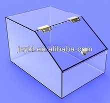 Transparente doces acrílico distribuidor caixa com tampa