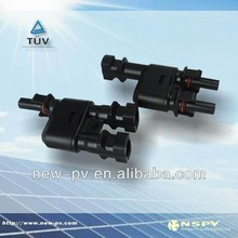 MC4 T branch solar connector with TUV and solar cable connector solar power mc4 connector