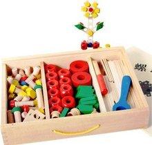 wooden screw toys