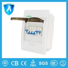 2-6ways plastic distribution box surface mounted