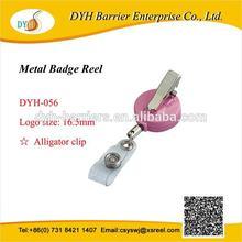 Quality metal round alligator clip mini retractable yoyo