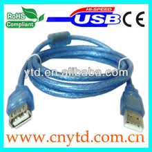 Standard usb 2.0 nickel plated am/fm extension cable