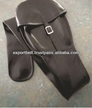 Black Genuine leather shooting gun case for hunting equipment | Leather and Canvas Hunting Gun Covers and Cases