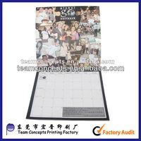 best folding table top calendar custom and printing