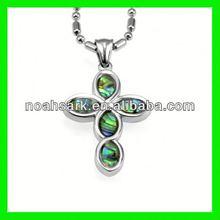 hot mother of pearl cross stainless steel pendant munufacturer simona