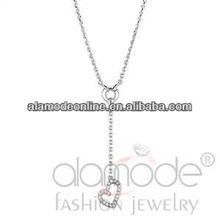 Trendy heart shape jewelry necklace designs