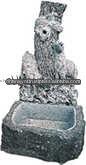stone carved birdbath