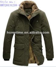 latest design cotton polyester padding jacket fur inside