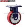4 Inch Red Pu Iron Rigid Caster Wheel