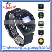 "1.5"" Bluetooth Smart MQ999 Watch Cell Phone Black"