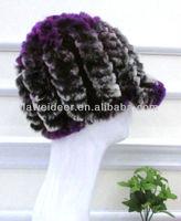 new fashion women knitted rabbit fur hats