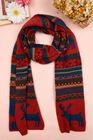100%acrylic jacquard deer fashion knit scarf